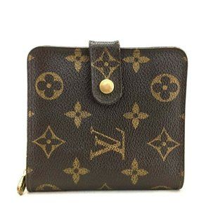 Auth Louis Vuitton Compact Zip Wallet #N0334X00